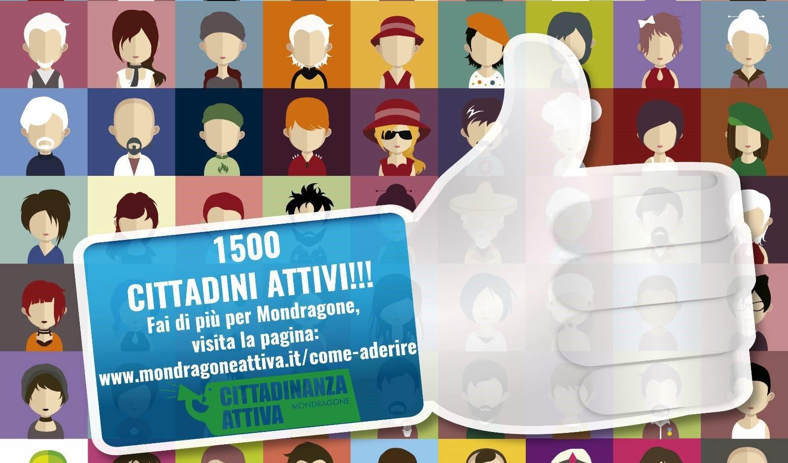 """1500 Like sulla Pagina Facebook """"Cittadinanza Attiva Mondragone"""""""